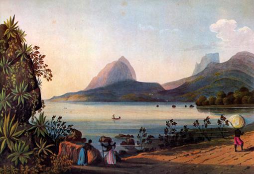 """Lagoa de Freitas"". 1822. H. Chamberlain. Acervo FBN"