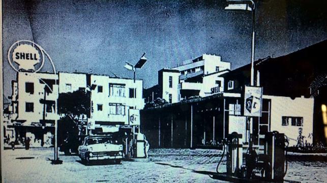 Posto Shell entre 1954 e 1957.